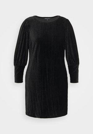 BALOON SLEEVE SHIFT DRESS - Pouzdrové šaty - black