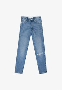 Stradivarius - MOM - Slim fit jeans - blue - 4