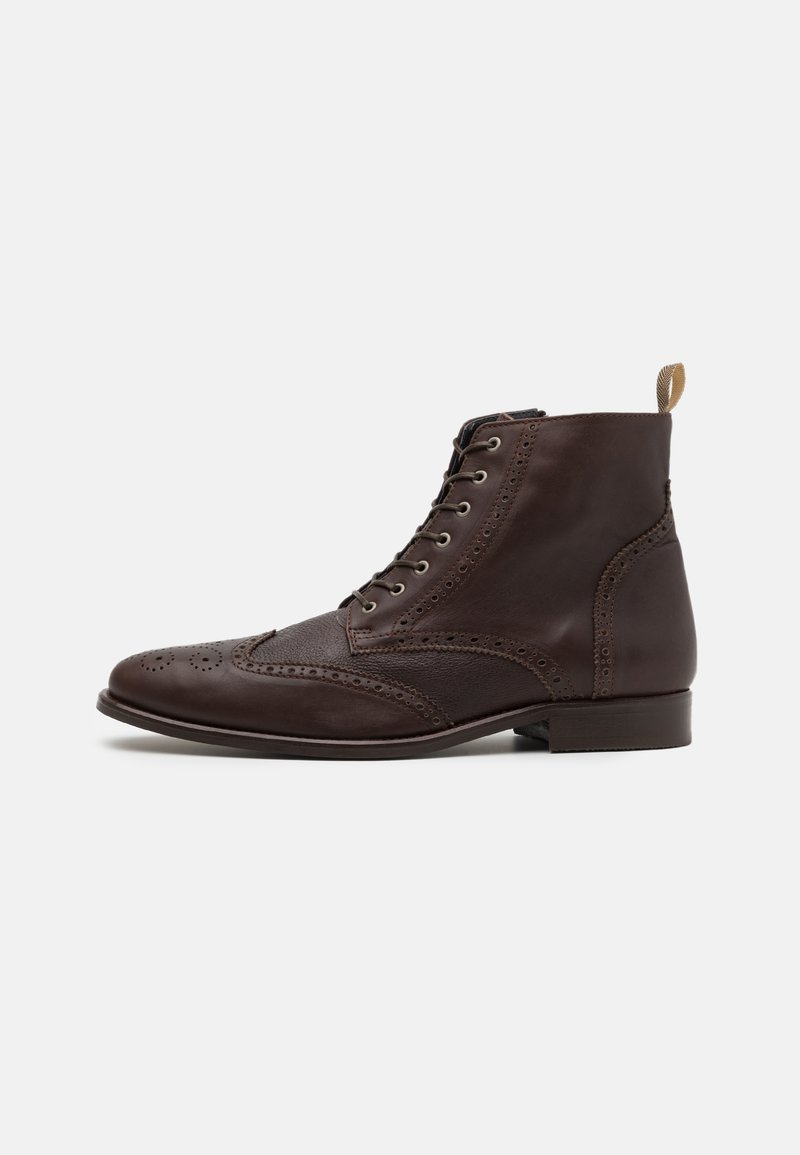 Shelby & Sons - HOCKLEY BROGUE BOOT - Lace-up ankle boots - brown