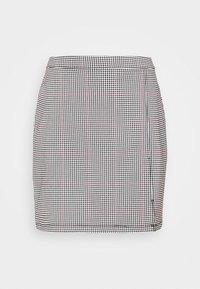 STRUCTURED PLAID MINI  - Mini skirt - black