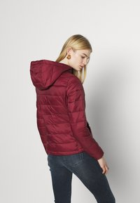 ONLY - ONLSANDIE QUILTED HOOD JACKET - Lett jakke - pomegranate - 2