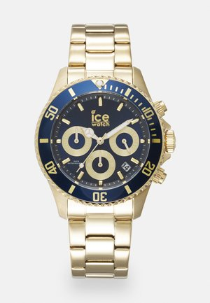 Chronograph watch - gold-coloured/blue