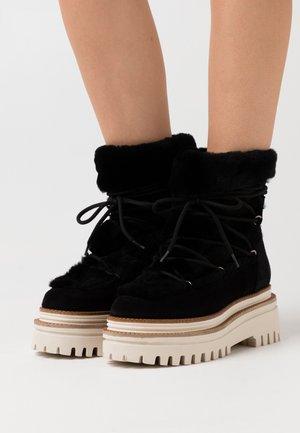 NAZARE - Platform ankle boots - black