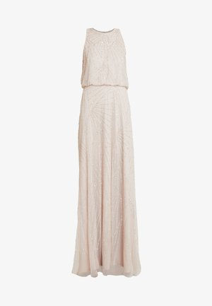 HALTER BEADED DRESS - Occasion wear - shell
