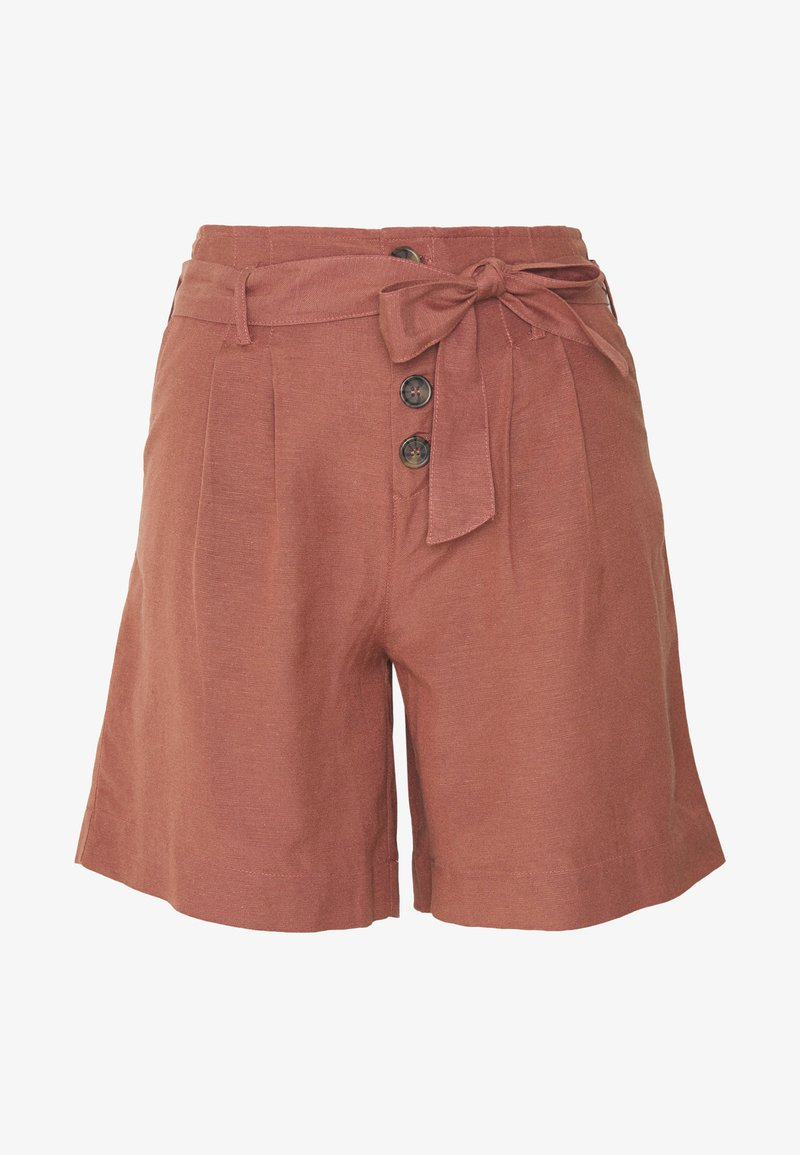 ONLY - SHORTS GÜRTEL - Kraťasy - light brown