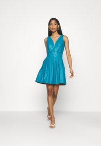 WAL G. - PLEATED SKATER DRESS - Day dress - teal blue - 1