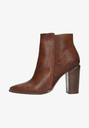 MIT ABSATZ - High heeled ankle boots - brown