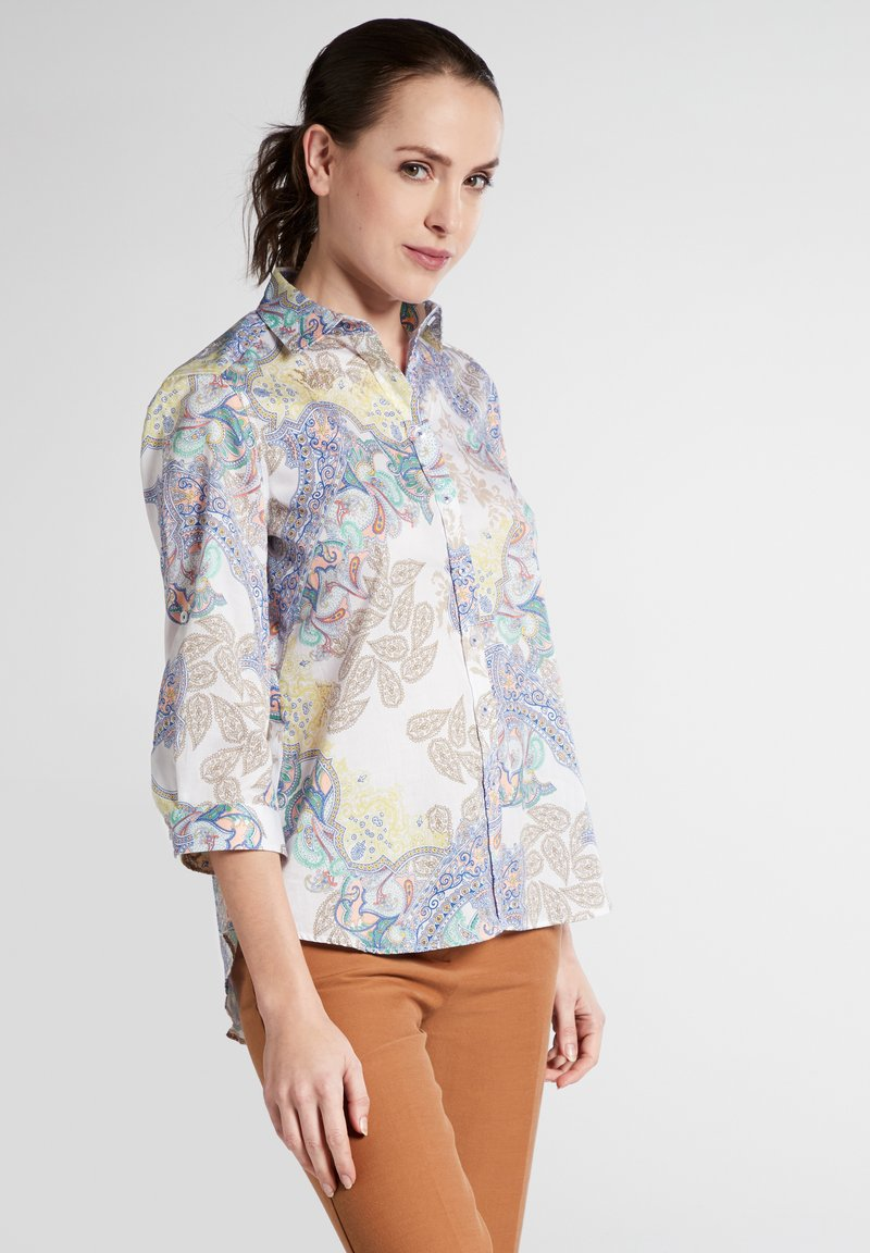 Eterna - MODERN CLASSIC - Button-down blouse - yellow/blue
