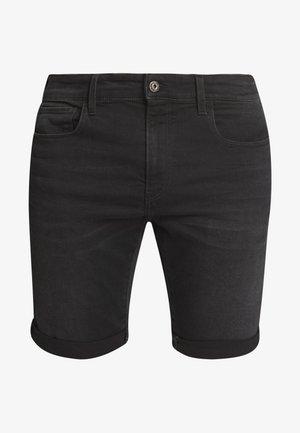 3301 SLIM  - Jeansshorts - elto nero black/worn in meteor