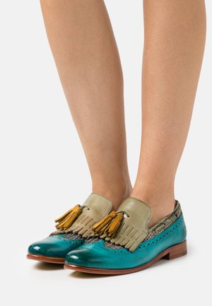 SELINA 3 - Loafers - turquoise/bambino/new grass/sun/rich tan/natural
