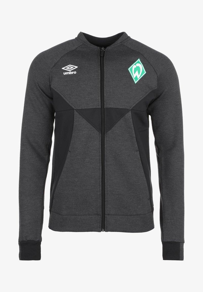 Umbro - SV WERDER BREMEN PRÄSENTATIONSJACKE HERREN - Training jacket - black marl / black