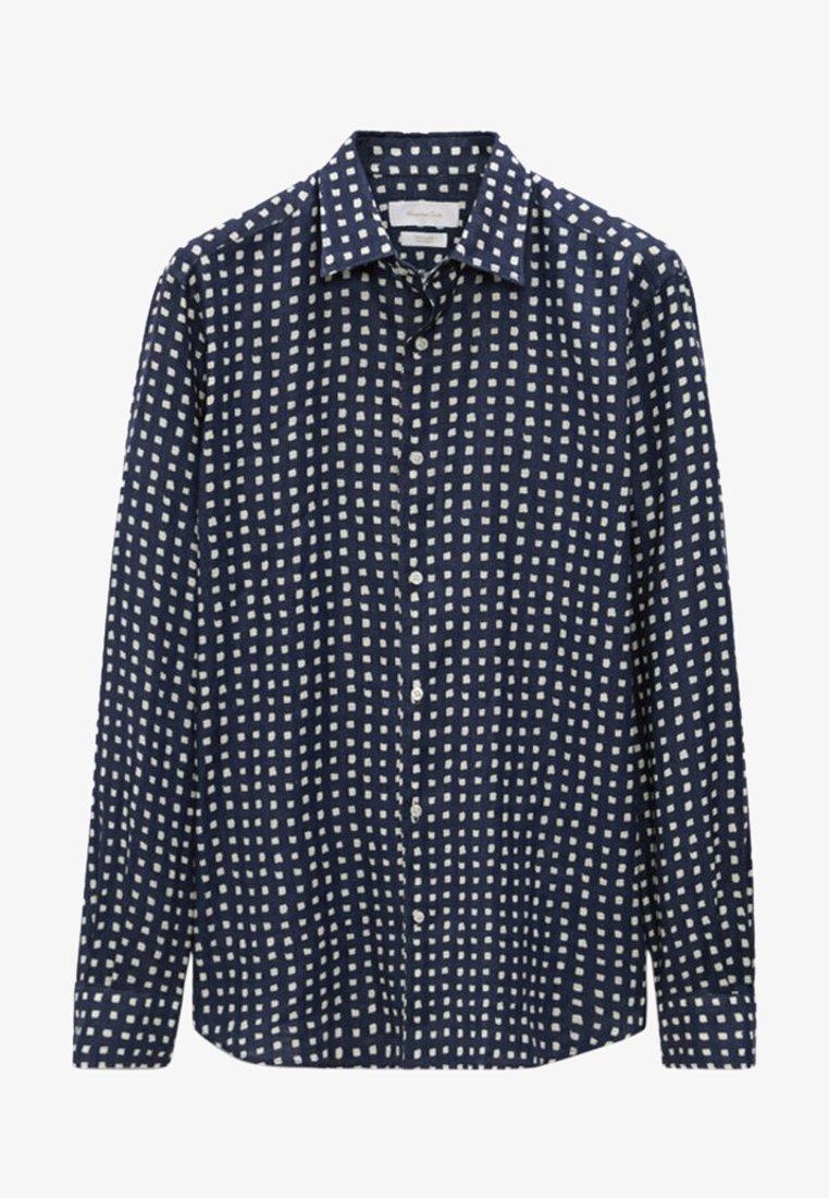 Massimo Dutti - SLIMFIT - Shirt - blue/black denim