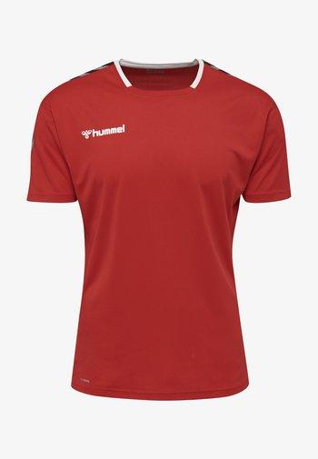 Print T-shirt - true red