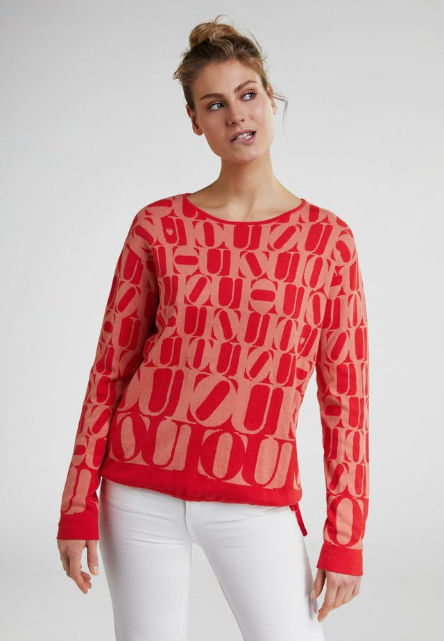 MIT OUI-MUSTER - Jumper - red/orange