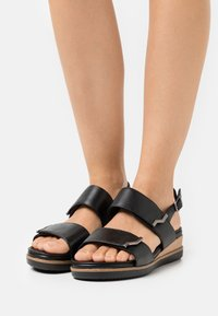 Tamaris Pure Relax - Platform sandals - black - 0