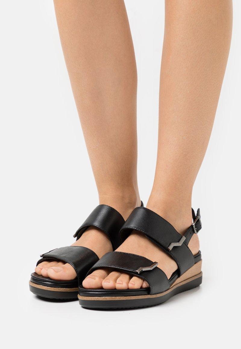 Tamaris Pure Relax - Platform sandals - black