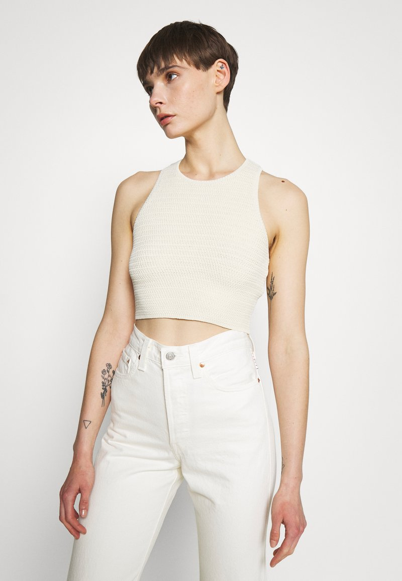 Weekday - BAY COCHET TANK - Top - white light exclusive