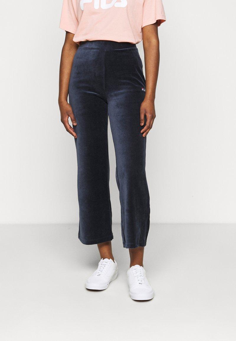 Fila Petite - BIAN CROPPED PANT - Trousers - black iris