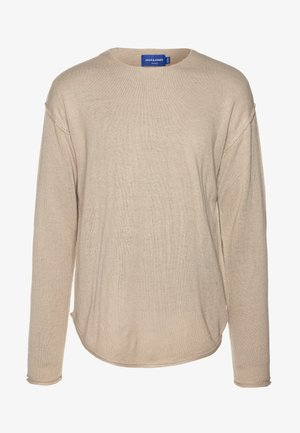 JORRAID SCOOP NECK  - Jumper - crockery/oversize