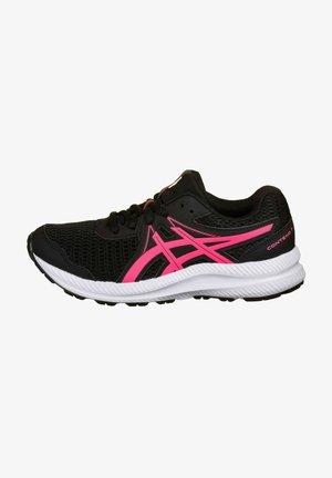 Zapatillas de running estables - black/hot pink