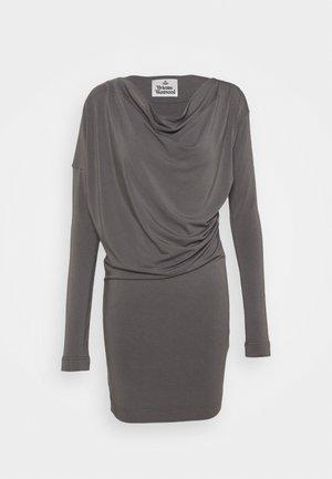 NEW DRAPE - Denimové šaty - grey