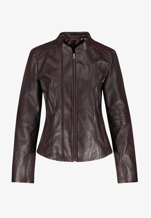 NAPPALEDER - Leather jacket - dark chestnut