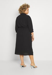 ONLY Carmakoma - CARNOVA LONG SHIRT DRESS SOLID - Shirt dress - black - 2