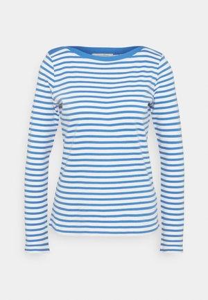 CONTRAST NECK - Topper langermet - mid blue/white