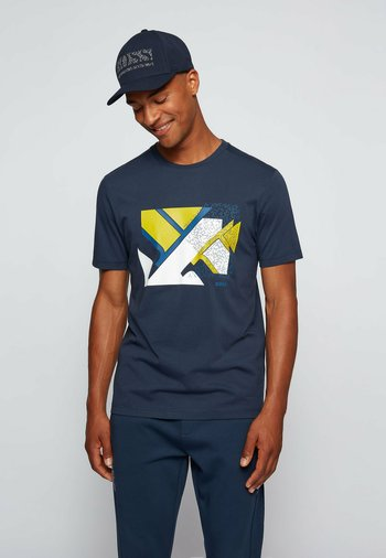 TEEONIC - Print T-shirt - dark blue