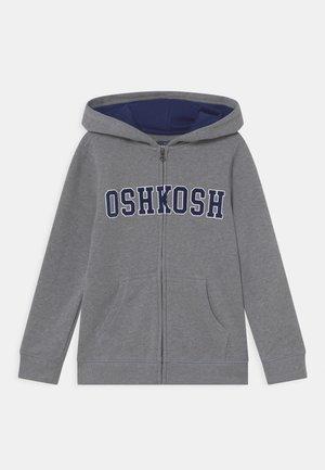 LOGO HOODIE - Sweater met rits - mottled grey