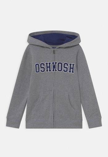 LOGO HOODIE - Zip-up sweatshirt - mottled grey