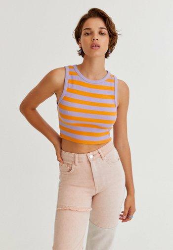 STREIFEN - Top - orange