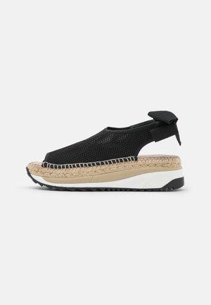 VILLA - Sandály na platformě - black