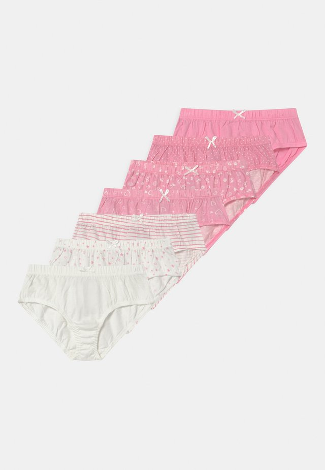 7 PACK - Alushousut - pink/white/rose