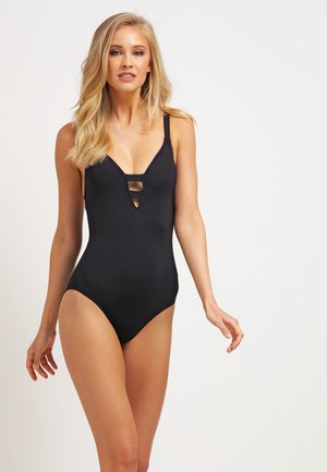 ACTIVE DEEP V MAILLOT - Swimsuit - black