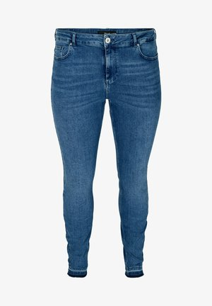 AMY WITH FRAYED EDGES - Slim fit jeans - blue