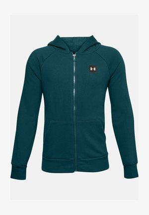 UA RIVAL - Zip-up hoodie - blackout teal