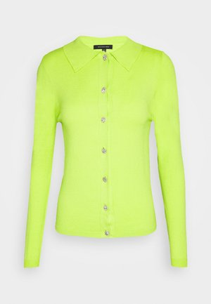 COLLARED CARDIGAN - Cardigan - acid lime