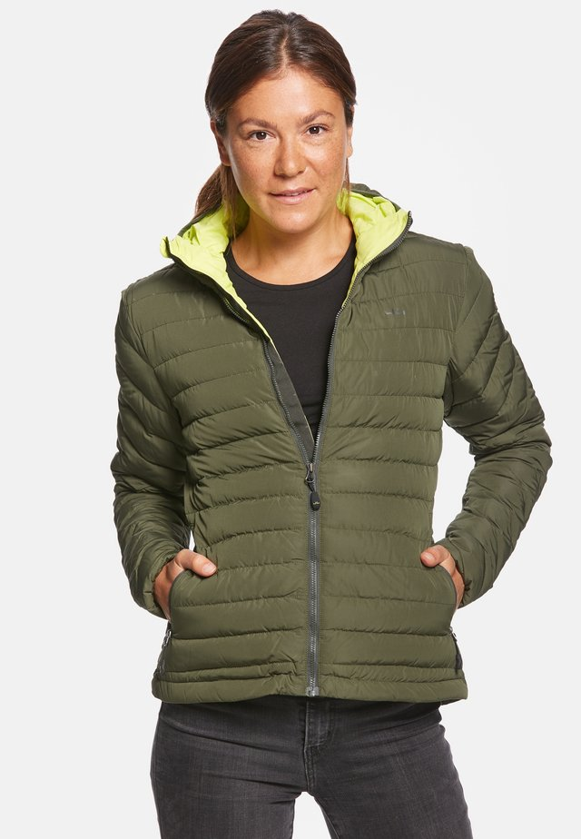 ARIA - Down jacket - olive/lemon