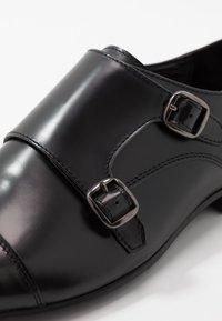 Walk London - HENDRIX MONK - Mocassini eleganti - smooth black - 5