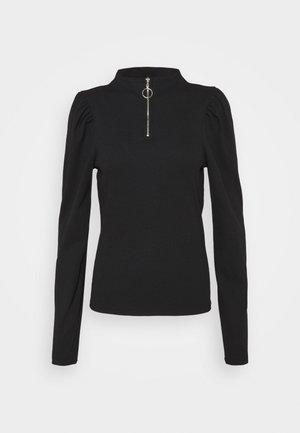 ZONE PUFF SLEEVE HIGH NECK TOP  - Langærmede T-shirts - black
