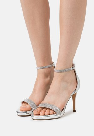 VEGAN MONROE - High heeled sandals - silver