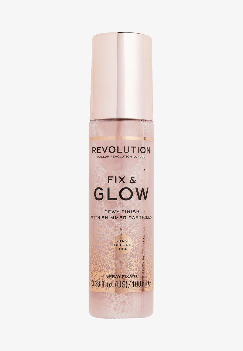 Make up Revolution - FIX & GLOW FIXING SPRAY - Fixierspray und Fixierpuder - -