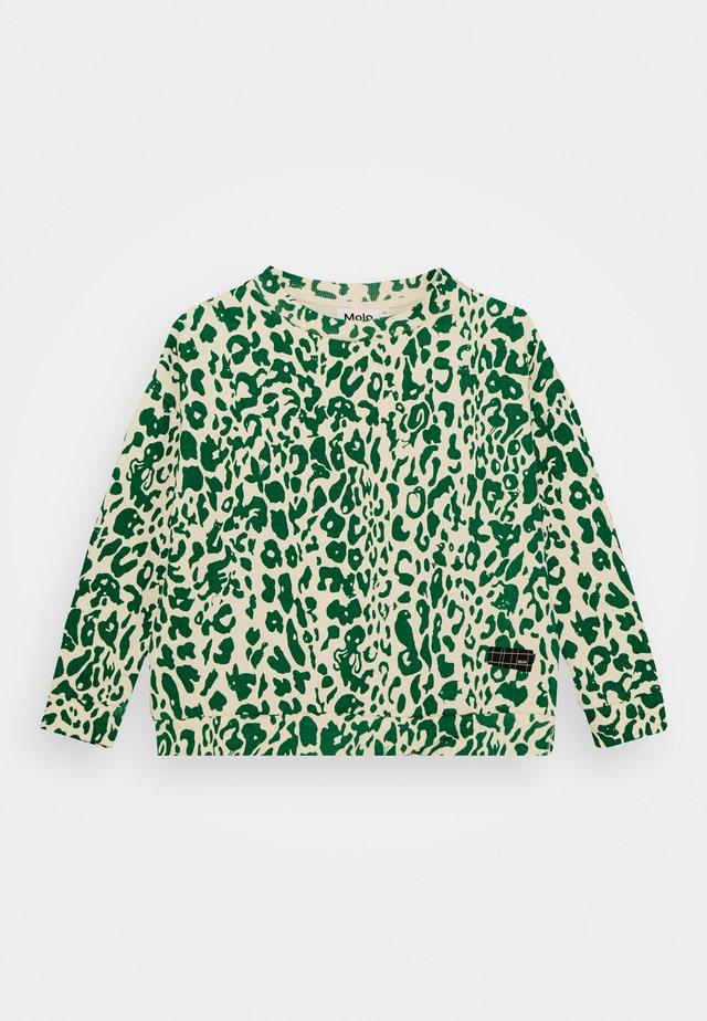 MIKA - Collegepaita - green leopard