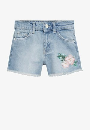 Denim shorts - middenblauw