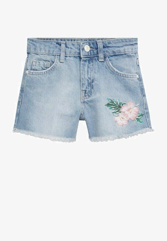 Mango - Denim shorts - middenblauw