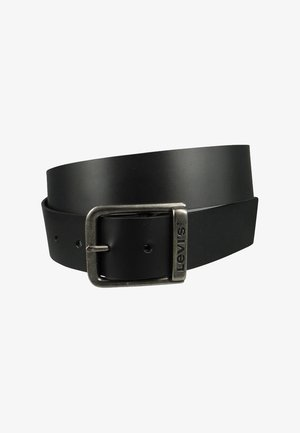 BRANDED BRIDGE BUCKLE - Belt business - regular black