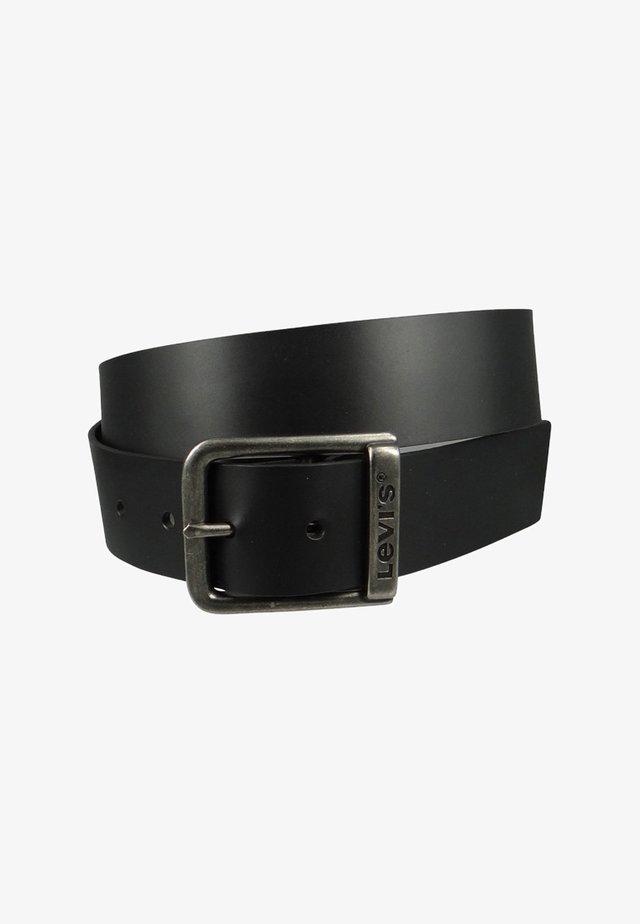 BRANDED BRIDGE BUCKLE - Formální pásek - regular black