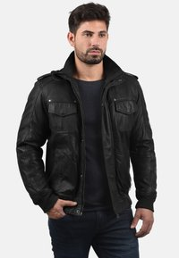 Solid - CAMASH - Leather jacket - black - 0