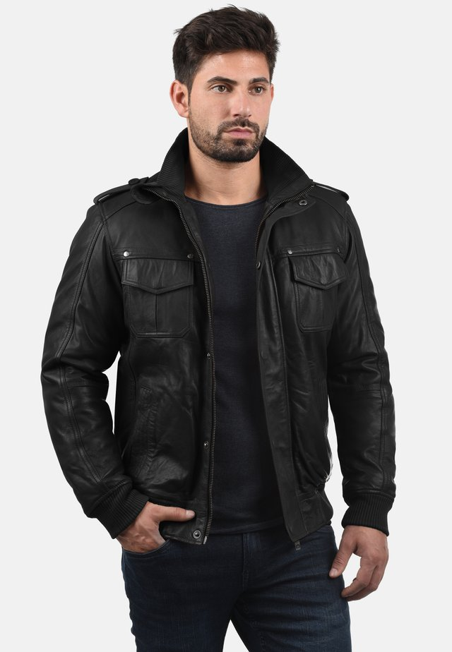 CAMASH - Leather jacket - black